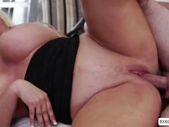 Sexy slutty and booby milf karen fisher gets her pussy banged