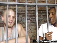 black, interracial, big cock, fucking, sucking, prison