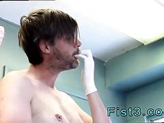 Twink gets his virgin ass finger banged by a mature man