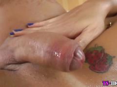 masturbation, big tits, oil, stockings, wanking