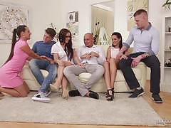 Pussy eating babes mea melone, shara jones and kari receive anal