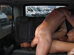Sexy czech babe squirts in car fuck