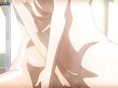Busty anime lesbians rubbing