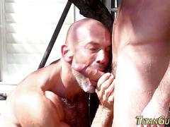 Muscled gay jizz garden