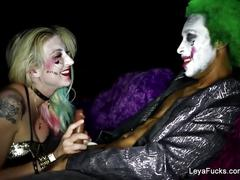 Harley quinn leya takes the joker's bbc