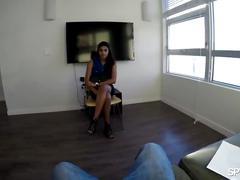 Spy pov - test run for hot latina pussy