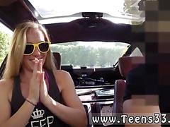 Blonde teen first black dick blonde silly attempts to sell car sells herself