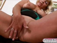 Blonde granny sarah is fucked hard by big black man