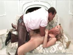 Stunning blonde craves for big cock
