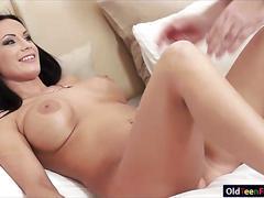 Busty samantha rebeka sucking and banged by a horny old dude