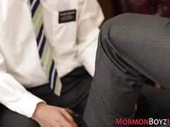 Gay bishop barebacks hunk