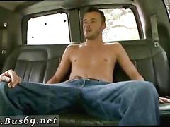 Tasty twink gets his ass fucked in backseat of van