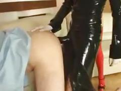 fisting, high heels, latex, strapon, latex anal