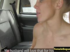 Uk female cabbie eating cum out of her cunt
