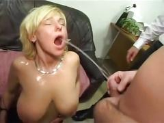 Womens mouths flooded with piss