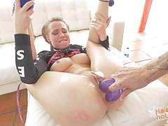 Kinky aidra fox balls deep dildo gagging and choke