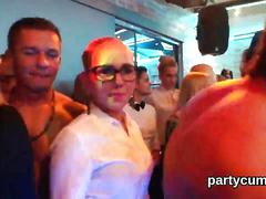 Frisky girls get completely insane and undressed at hardcore party