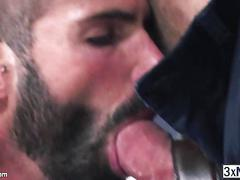 Work buddies jessy ares and dani robles is working on each others ass