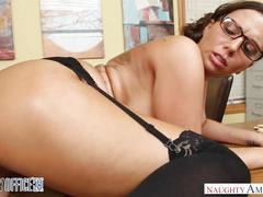 Big tits boss sydney leathers fucks her employee - naughty america