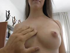 angelina brill, brunette, blowjob, cumshot, deep throat, cock suck, sucking