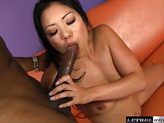 sean michaels, asian, riding, cumshot, facial, interracial, cowgirl, black cock, bbc