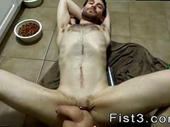 Hairy white guy gets his ass fisted and face cum covered