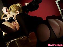 Elegant babe plays with her partners hot pussy