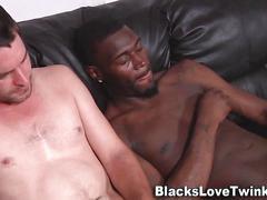 Amateur sucks black cock masturbation
