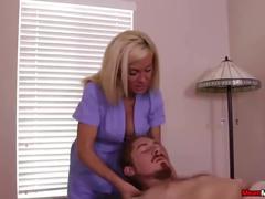 big tits, blonde, handjob, massage, meanmassages, femdom, slave, mistress, big-tits, tied, bound, bondage, jerking, stroking, tug