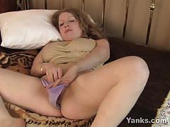 Seductive amateur plays with her warm pussy