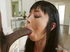 Asian cutie marica hase cant get enough of black cock