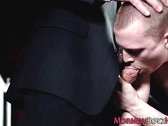 group, bareback, old and young, blowjob, cumshot