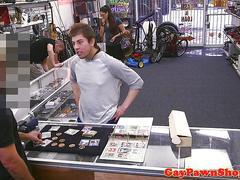Straight pawnshop amateur facialized for cash segment