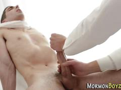 Gay mormon cum covered