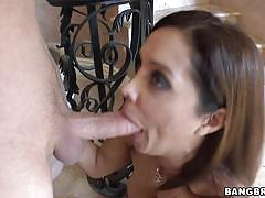 francesca le, brunette, blowjob, milf, oral, mature, sucking