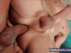 Gay porn stars give each other a bj