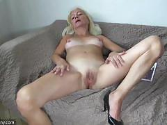 Oldnanny big boobed mature chubby blowjobing