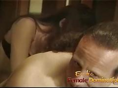 Lusty slut has some kinky fun with a horny couple