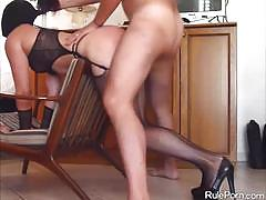 Fishnets, high heels and wild banging
