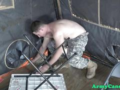 Black military rookie assfucked on base