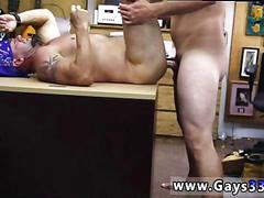 Biker with muscles gets his old ass fucked in pawnshop