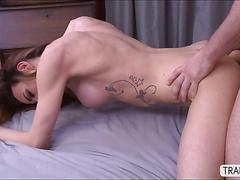Tranny savannah in initimate anal sex with her handsome lover