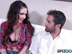 Cock guzlling jessica jaymes cum splattered on her boobs