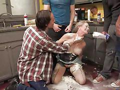 milf, blonde, bdsm, big tits, orgy, deepthroat, gangbang, big dick, whipped cream, in kitchen, hardcore gangbang, kink, michael vegas, bill bailey, owen gray, simone sonay, axel aces, jeremy long