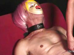 Mistress carly fucks real life sexdoll then makes him lick out her cum soaked pussy