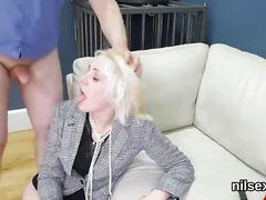 Nasty sweetie was taken in ass hole assylum for painful treatment