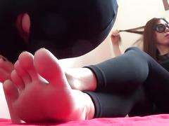 Korean mistress foot worship
