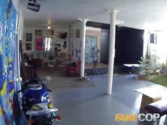 Fake cop cop fucks amateur model in the arse