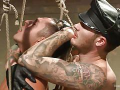 Rough domination with rope bondage
