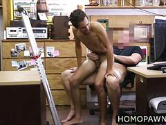 Petite straight ass amateur dude is innocent about gay thing and tries bareback